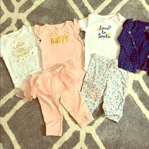 Set of 2 carters outfits 6months